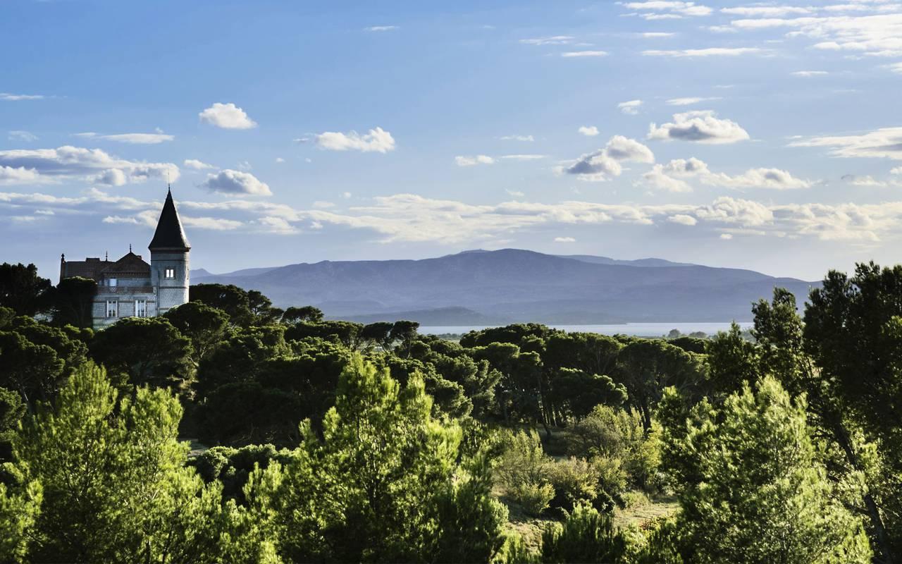 Landscape, castle hotel Occitanie Narbonne, Domaine et Demeure