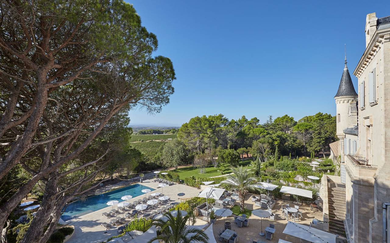 château les carrasses with swimming pool rental villa languedoc roussillon