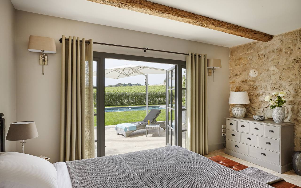Pool view room, villa in the south of france,  Domaine & Demeure