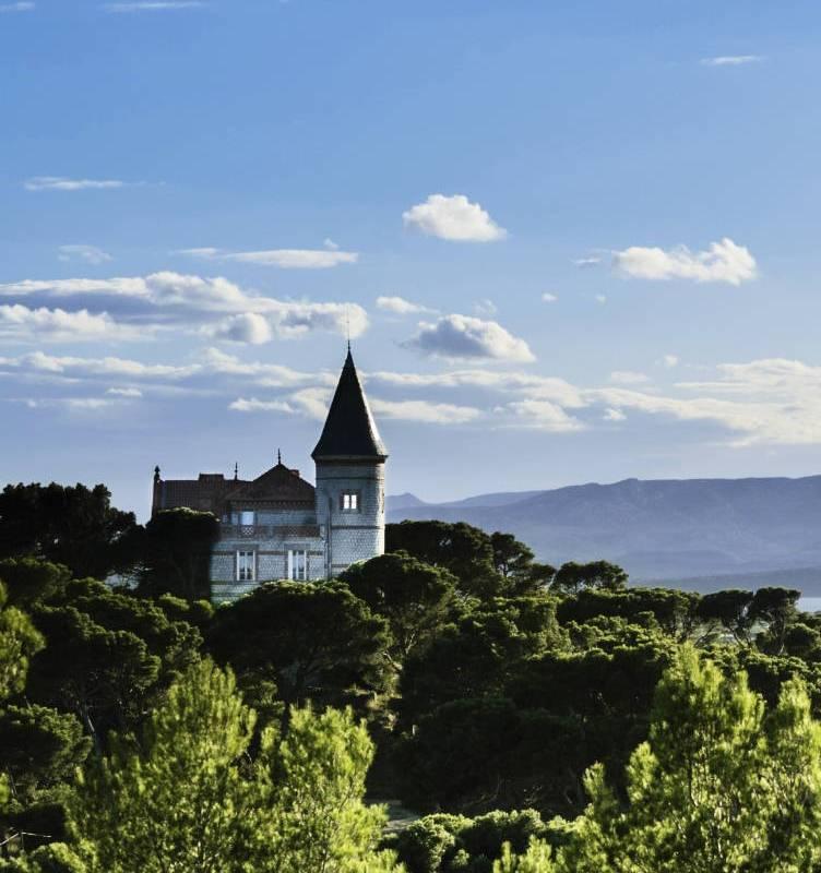 Château au coeur de la forêt, vignoble languedoc, Domaine et Demeure