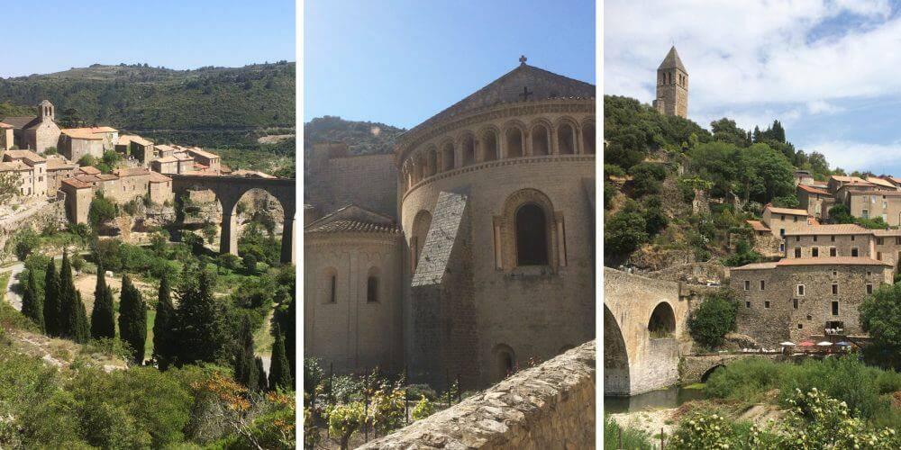 Différents villages de l'Hérault, à proximité de notre b&b près de Pézenas, Château St pierre de Serjac.