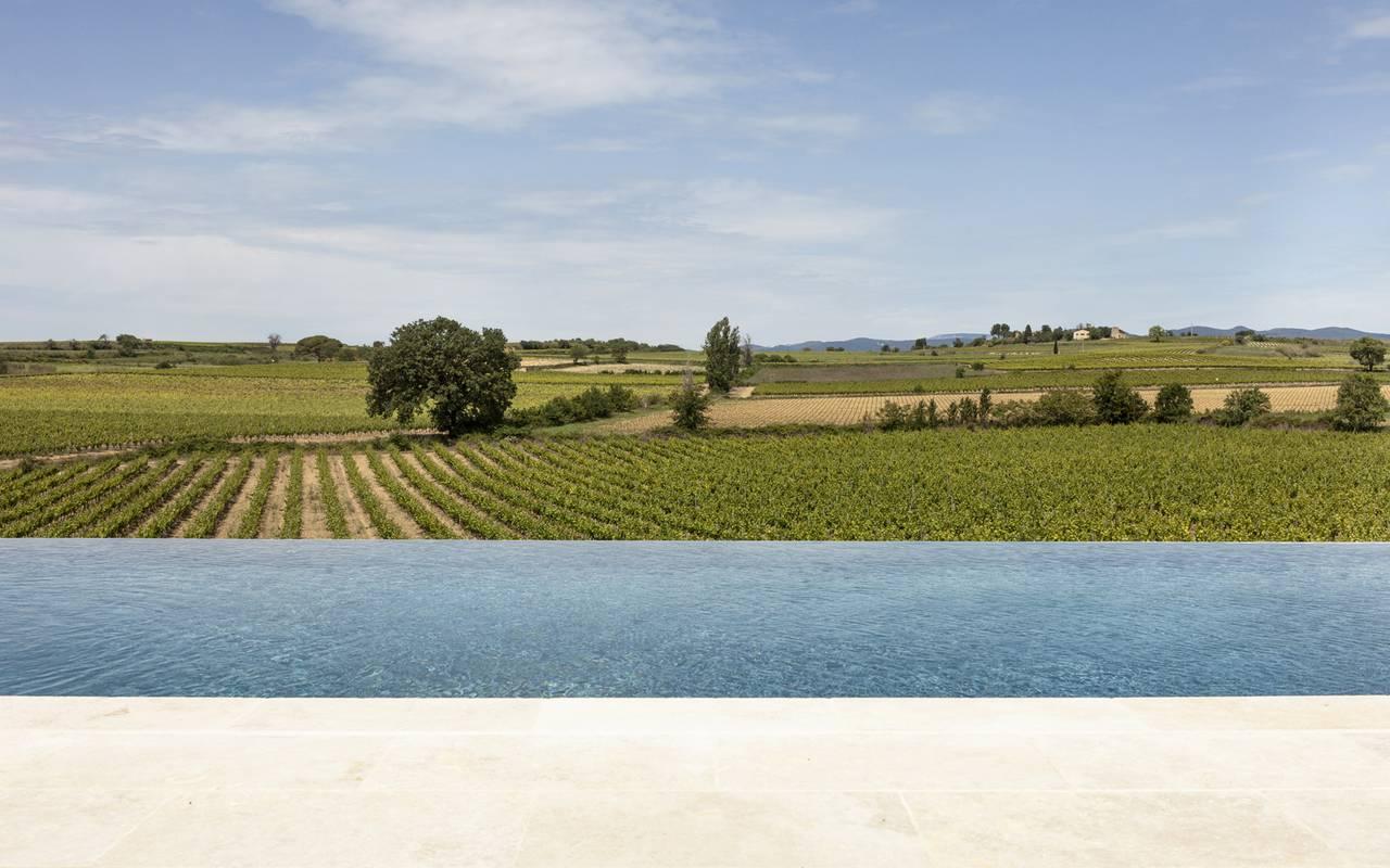 Piscine et vignes, hôtel Occitanie et Narbonne, Domaine et Demeure