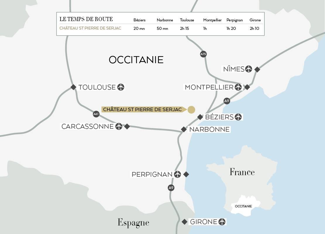 Plan, hôtel spa herault, Domaine & Demeure